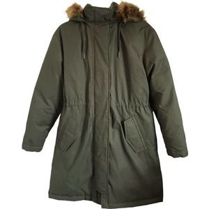 Universal Thread Arctic Parka Coat w/Hood in Green
